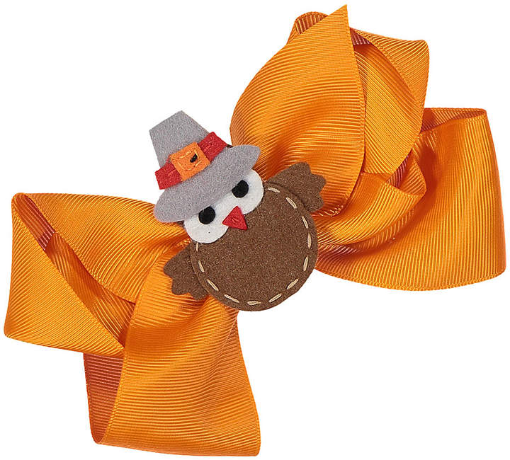 Orange & Brown Turkey Bow