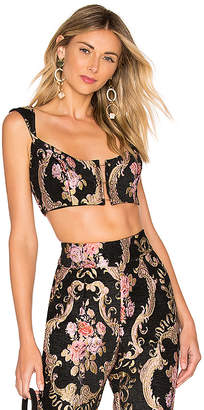 For Love & Lemons Brocade Crop Top