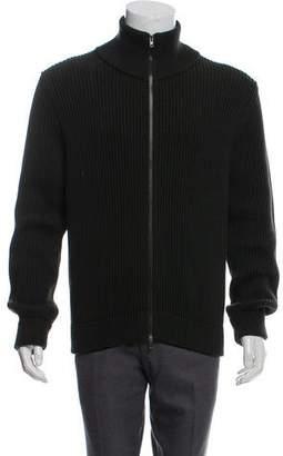 Maison Margiela Rib Knit Zip-Up Cardigan