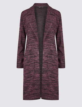 Marks and Spencer Textured longline Open Front coat
