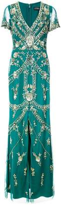 Aidan Mattox embellished V-neck dress