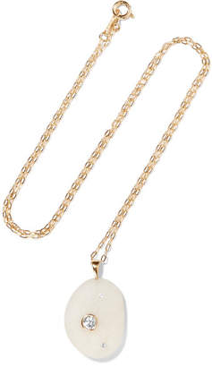 Cvc Stones Chill 18-karat Gold, Stone And Diamond Necklace