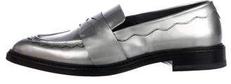 Christopher Kane Metallic Patent Leather Loafers