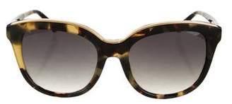 No.21 No. 21 Oversize Tortoiseshell Sunglasses