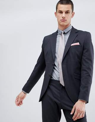Selected Suit Jacket In Slim Fit With Micro Grid Detail