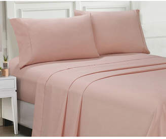 Ellen Tracy Microfiber King Solid and Print Sheet Set Bedding