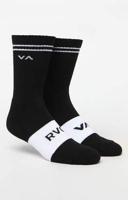 RVCA Basic Block Crew Socks
