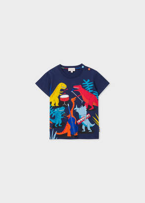 Paul Smith Baby Boys' Navy 'Dinosaur Band' Print T-Shirt