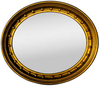 One Kings Lane Vintage French Federal Gilded Oval Mirror - Cliffe's Edge Antiques