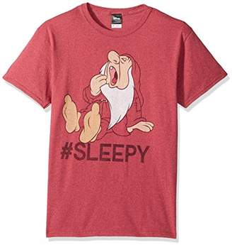 Disney Men's Snow White and Seven Dwarfs Hashtag Sleepy Graphic T-Shirt