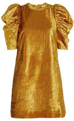 Ulla Johnson Callahan Corduroy Puffed Shoulder Dress