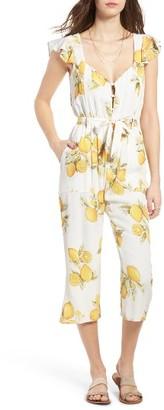 Women's For Love & Lemons Limonada Crop Jumpsuit $211 thestylecure.com