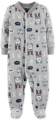 Carter's Baby Boys Dog-Print Footed Coverall