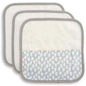 Elegant Baby Baby's Three-Piece Organic Cotton Velour Terry Washcloth Set