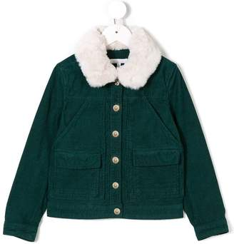 Chloé Kids faux fur collar jacket