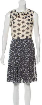Tory Burch Silk Floral Printed Dress