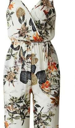 Factory Unknown Floral Print Jumpsuit
