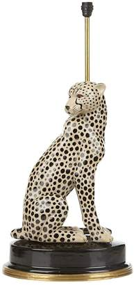 Cheetah Porcelain Lamp Stand