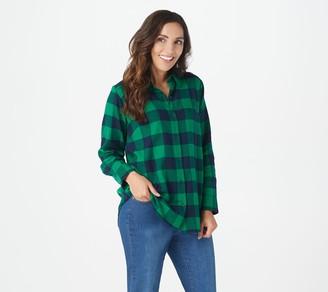 Buffalo David Bitton Joan Rivers Classics Collection Joan Rivers Brushed Flannel Check Boyfriend Shirt