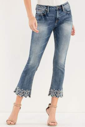 Miss Me Lux-Life Mid-Rise-Crop Boot-Cut-Jeans