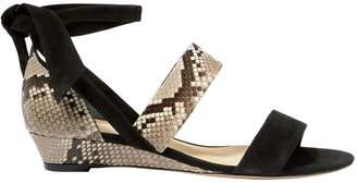 Alexandre Birman Python Lace-Up Sandals