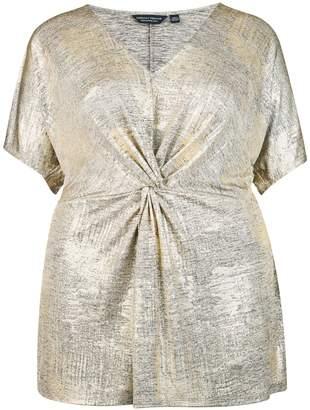 Dorothy Perkins Womens **Dp Curve Gold Knot Top