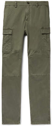 Brunello Cucinelli Herringbone Stretch-Cotton Cargo Trousers - Army green