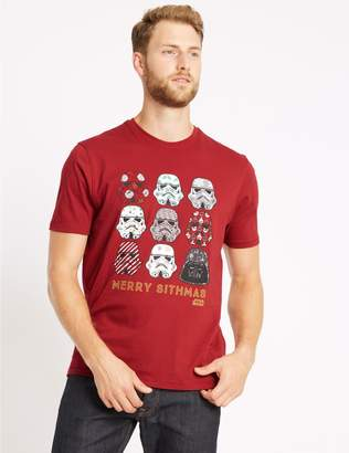 Marks and Spencer Star Wars Stormtrooper Christmas T-Shirt