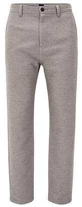 HUGO BOSS Tapered-fit trousers in a cotton blend