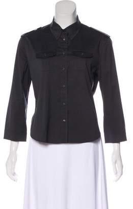 Prada Long Sleeve Button-Up Top