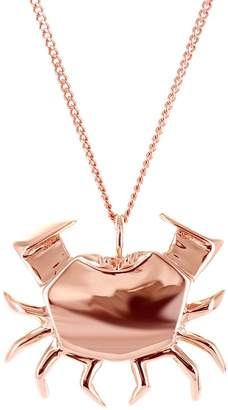 Origami Jewellery Crab Necklace Rose Gold