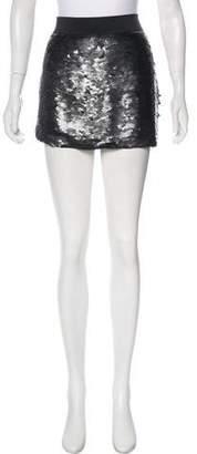 BCBGMAXAZRIA Sequined Mini Skirt