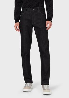 c51b98e766b1 Emporio Armani J15 Regular Fit Stretch Cotton Denim Jeans