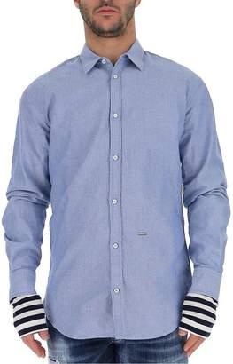 DSQUARED2 Layered Striped Cuff Shirt