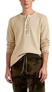 RRL Men's Alaska Embroidered Cotton-Blend Henley - Cream