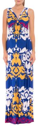 Olian Ellie Print Maternity Maxi Dress