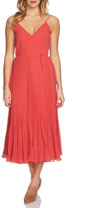 1 STATE 1.STATE Pleated Wrap Midi Dress