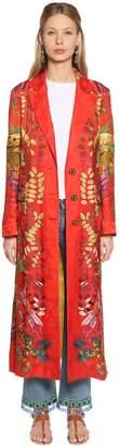 Etro Printed Silk Jacquard Coat
