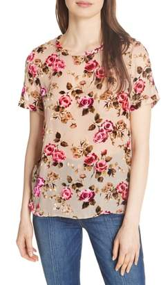 Alice + Olivia Piera Floral Burnout Tee
