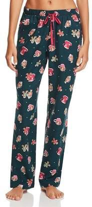 Jane & Bleecker New York Printed Flannel Pants