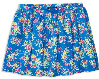 Ralph Lauren Childrenswear Girls' Floral Print Twill Skirt - Sizes S-XL $45 thestylecure.com