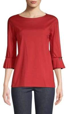 Max Mara Pleated Cuff Blouse