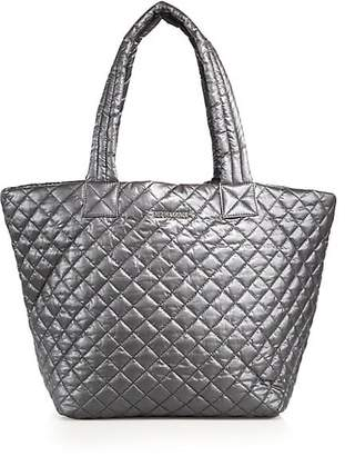 MZ Wallace Metro Medium Metallic Quilted Nylon Tote