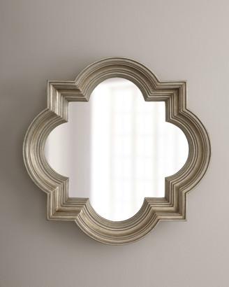 Horchow Silvery Quatrefoil Mirror