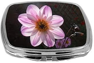 Rikki Knight Beautiful Wild Garden Pink Flower with Sun Filtering Design Compact Mirror