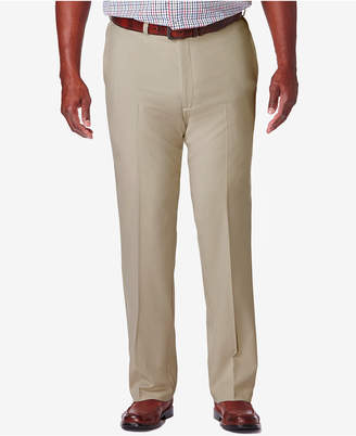 Haggar Men's Big & Tall Cool 18 Pro Classic-Fit Expandable Waist Flat Front Stretch Dress Pants