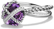 David Yurman Cable Wrap Ring with Diamonds $495 thestylecure.com