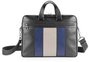 Bottega Veneta Embossed Woven Leather Briefcase