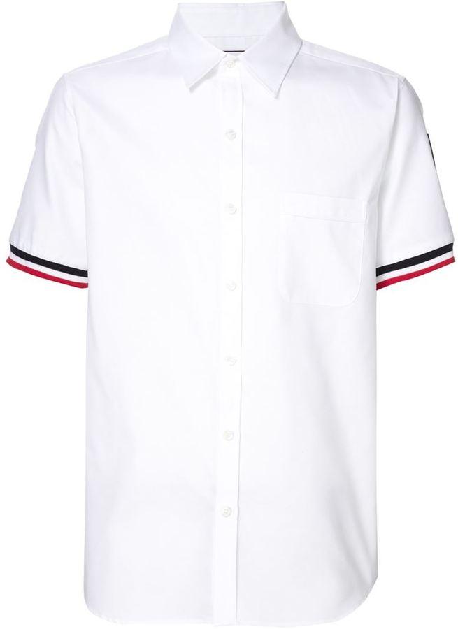 Moncler Gamme Bleu logo polo shirt
