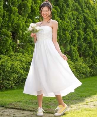フォルムフォルマ 【結婚式・ウェディングドレス】kaene/フラワーチュール×シフォンフレアロングウェディングドレス